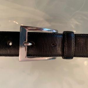 """Brooks Brothers Accessories - Brooks Brothers Black Leather 36"""" Belt"""